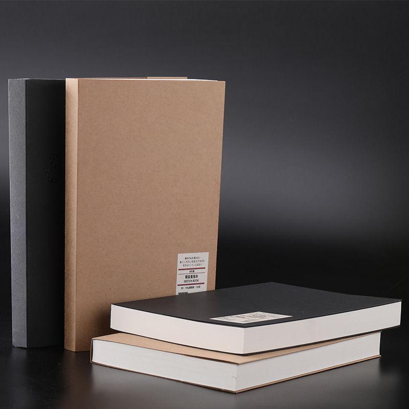 128 folhas simples papel kraft caderno criativo escritorio material escolar desenho esboco cadernos em branco pagina