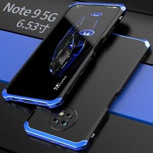 Image 2 - עמיד הלם טלפון מקרה עבור Xiaomi Redmi הערה 8 פרו הערה 7 פרו הערה 6 5 פרו 4 mi 10 פרו אלומיניום מתכת פגוש קשיח מחשב כיסוי Coques