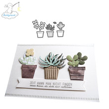 CH Potted plant Metal Cutting Dies Embossing Scrapbooking Stencil Craft Cut Dies For DIY Card Crafts Handmade(China)