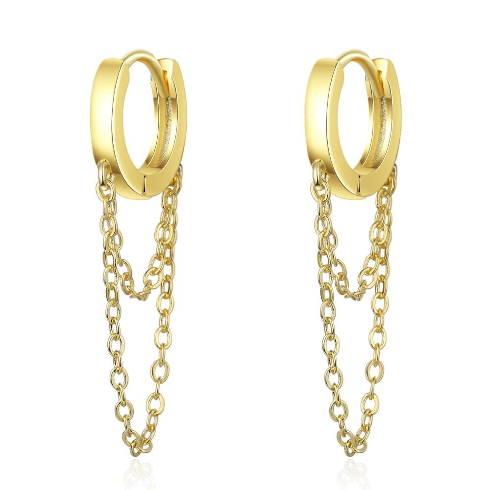 Gold Silver Long Chain Earring For Women 925 Sterling Silver Earrings Fashion Silver Jewelry korean New 2020 oorbellen