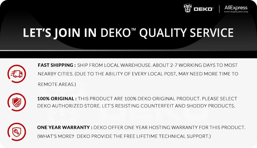 DEKO GCD12DU3 12V Quality Services
