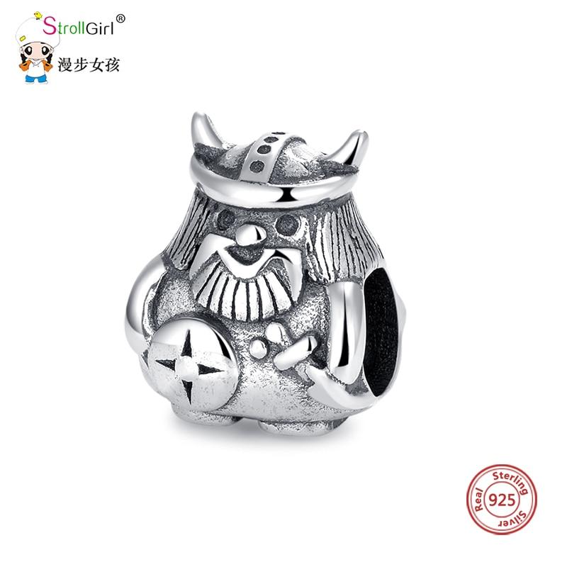 Strollgirl Warrior Bead Jewelry Charm-Fit Pandora Bracelet 100%925-Sterling-Silver Hot