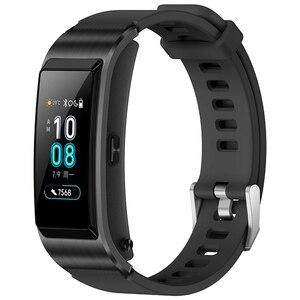 Image 3 - Original Huawei TalkBand B5 Talk Band B5 width Bluetooth Smart Bracelet Sports Wristbands Touch AMOLED Screen Call Earphone Band