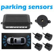 Sensor de aparcamiento parktronic automático para coche con 4 sensores de marcha atrás para aparcar el coche Monitor de Radar Detector de sistema de visualización