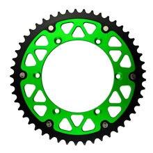 Ahl 45 46 47 48 49 51 52 t dentes roda dentada traseira composta de alumínio de aço da motocicleta para kawasaki klx450r klx450 r 2007-2014