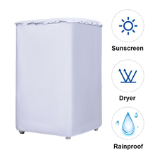 Washing Machine PVC Dust Proof Cover Waterproof Case Washing Machine Protective Dust Jacket Washer Sunscreen Rain