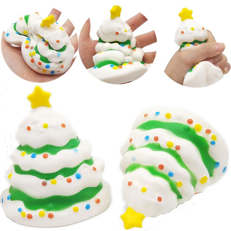 Jumbo Squishies Slow Rising Christmas Snowman Tree Elk Squishies Cream Scented Stress Relief Kawaii Toys For Kids And Adults