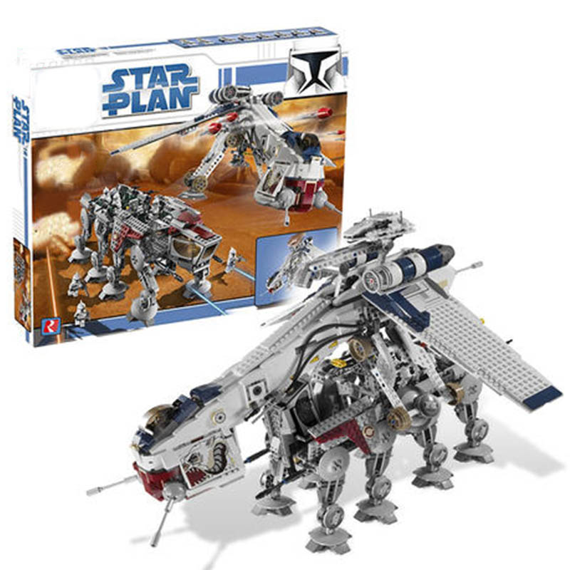 Preventa 05053 legoinglys serie de Plan de la Guerra de Las Galaxias el 10195 República Dropship Set bloques de construcción bloques de montaje juguetes niños regalos