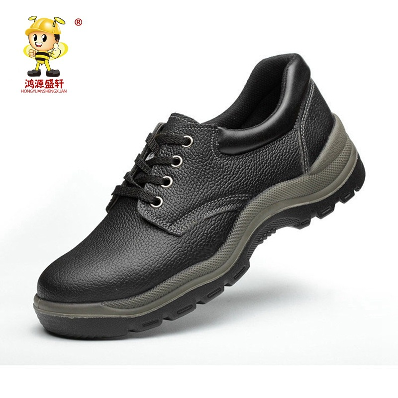 Manufacturers Wholesale Cowhide Smashing Safety Shoes Polyurethane Anti-slip Wear-Resistant PU Bottom Safety Shoes Chemical Prot