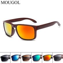 MOUGOL 2019 Vintage Sunglasses Men Brand Designer Reflective Mirror Sun Glasses Male Women Retro Square Driving Eyewear uv400