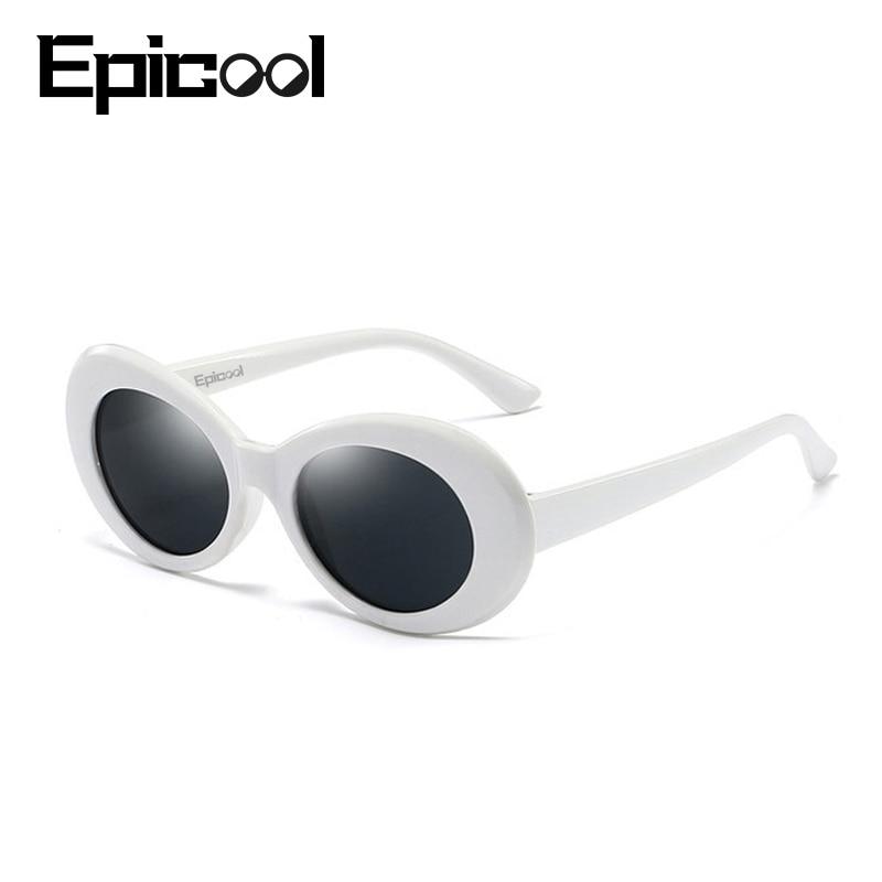 Epicool Retro Sunglasses Women Oval Resin Frame Sun Glasses Brand Design Mirror Sunglasses Fashion Female Glasses UV400