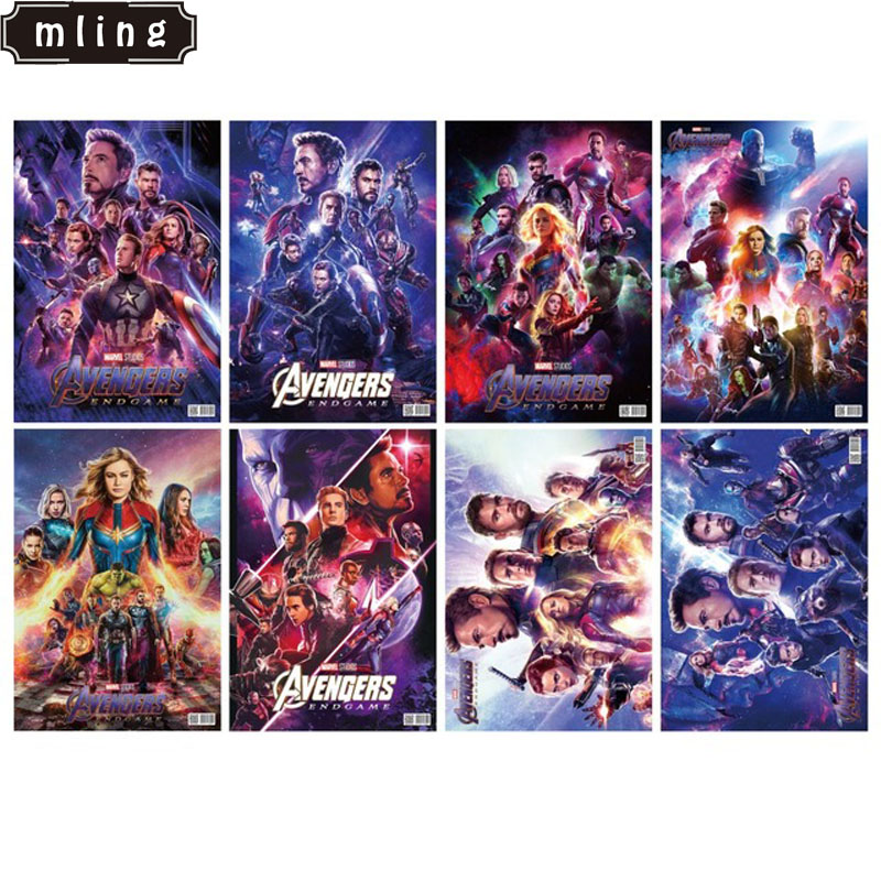 mling 42x29cm Avengers:Endgame - 8 Pcs/set Movie Poster