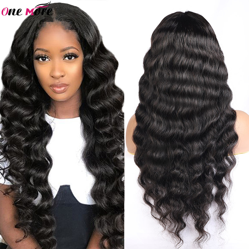 Malaysian Loose Deep Lace Front Human Hair Wigs For Black Women Loose Deep Frontal Wig 4x4 Closure Wig One More Lace Front Wig