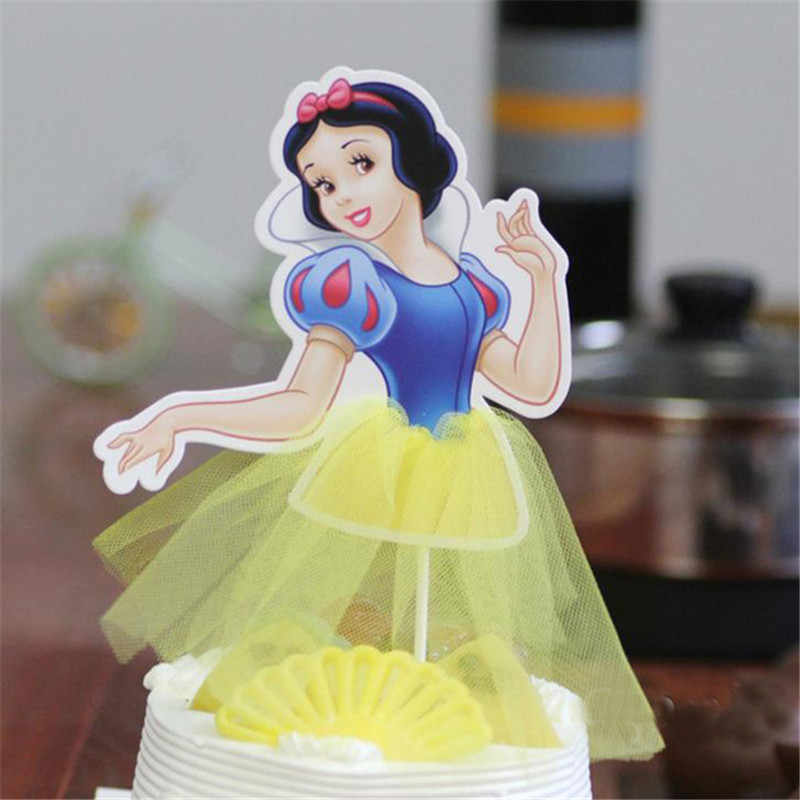 Christmas cake flagged Cute Princess Series Snow White Sofia Cinderella Cupcake Toppers Party Supplies Birthday Decor Supplies