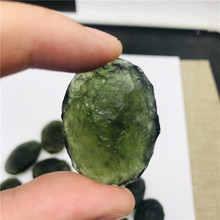 Raw Rough-Stone Crystal-Energy Czech Meteorite Natural Moldavite Gifts Green 1PC