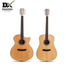 Professional 41 inch Acoustic guitar All Solid wood Spruce top musical Stringed instruments steel string guitarra china handmade acoustic guitar 39 inch 6 string guitar missing angle black rosewood fingerboard edge musical instruments professional