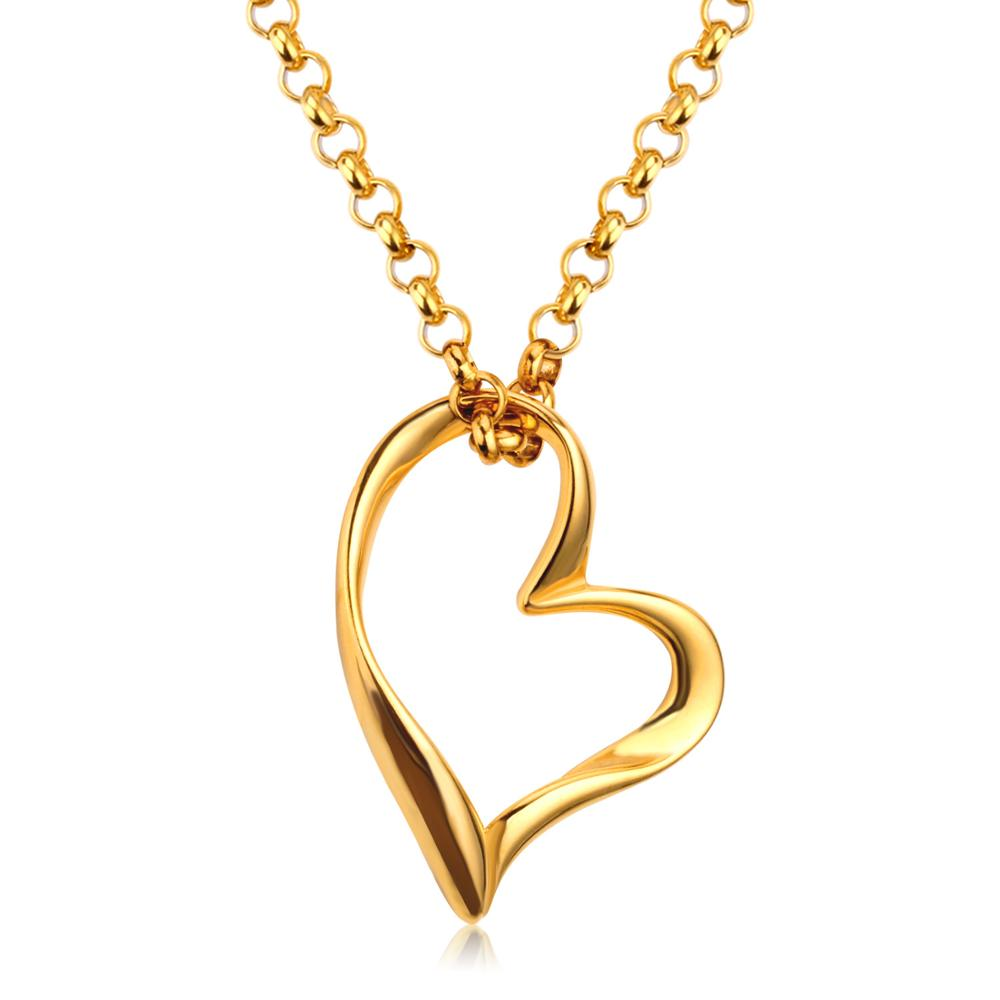 LUXUKISSKIDS legjobb barátnő nyakláncok rozsdamentes acél szív medál nyaklánc női party arany / ezüst hosszú láncok ékszerek