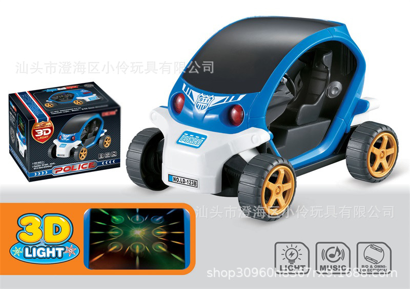 Electric Universal Car Toy Music Flash 3D Light Universal Car Model CHILDREN'S Toy Police Car