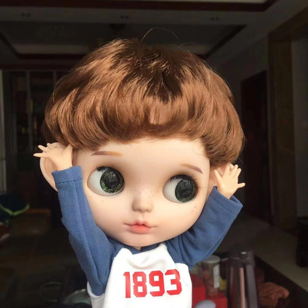 ICY 19 Joint Blyth Doll With Makeup Face White Skin With Hair Girl Gift DIY Cute Boy DIY Makeup Doll