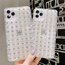 Transparent Glitter 3D Diamond Phone Cases for iPho