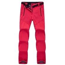 Для женщин и мужчин из плотного теплого флиса софтшелл брюки для рыбалки, кемпинга, походов, лыжного спорта водонепроницаемые ветрозащитные брюки