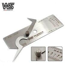 V-WAC calibre de soldagem gage solda mordendo borda undercut inspeção gage métrica mm leitura