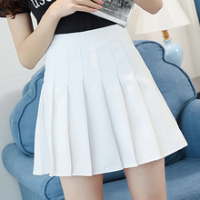 Плиссированная теннисная юбка для девочек, короткое платье с высокой талией и трусики, облегающая школьная форма, женские юбки для бадминто...