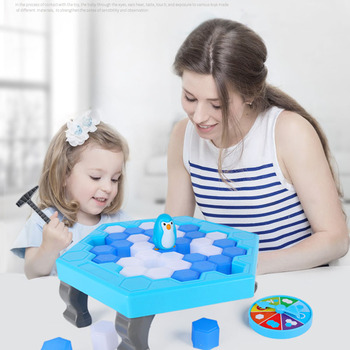 Funny Great Family Penguin Ice Breaking Save The Penguin Kid Toy Party Game Parent-Child Interactive Entertainment Table Toys фото