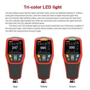 Image 5 - Grubościomierz dla samochodów UNI T UT343D miernik grubości lakieru farby miernik grubości lakier samochodowy Tester FE/NFE pomiar