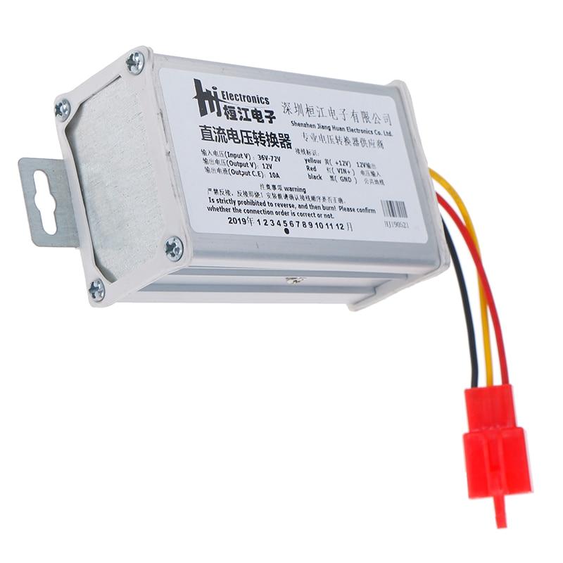 Adaptador convertidor para batería de coche eléctrico, DC 36V-72V a 12V-10A 120W