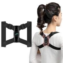 Smart back support back posture corrector inteligente sensor de ângulo lembrete vibração carregamento usb tela led crianças adultos