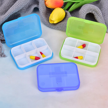 Portable Pill Cases Travel Dispen Storage Container Colorful Drug Dispenser Packing Container 2/4/6 Slot Moisture-proof Pill Box