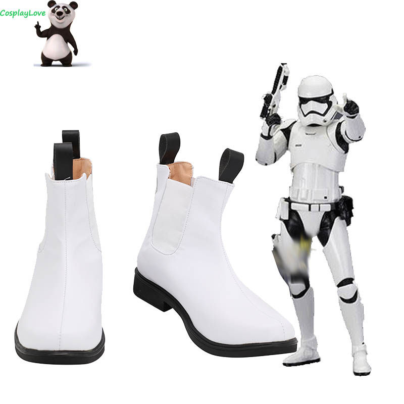 Star Wars The Force Réveille Stormtrooper Short Blanc Cosplay Chaussures AA NOUVEAU