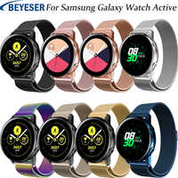 20mm watchbands For Samsung Galaxy Active Milanese loop stainless steel strap for Samsung gear S2 sport classic metal wristband