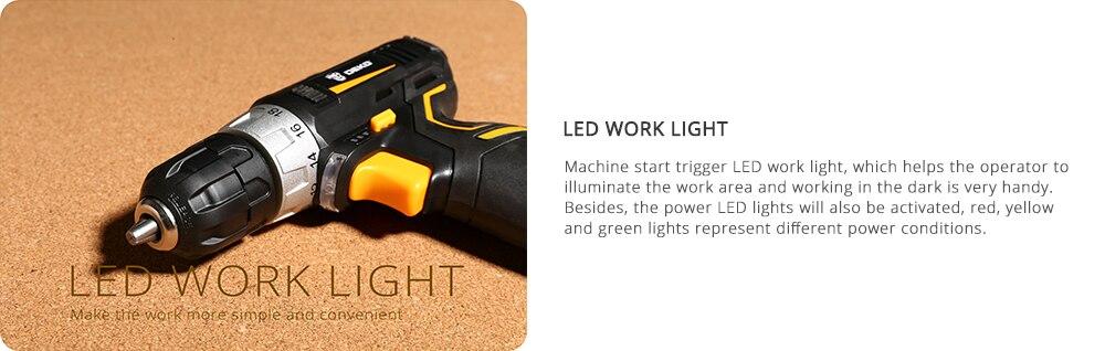 Deko Led Worklight of Cordless drill