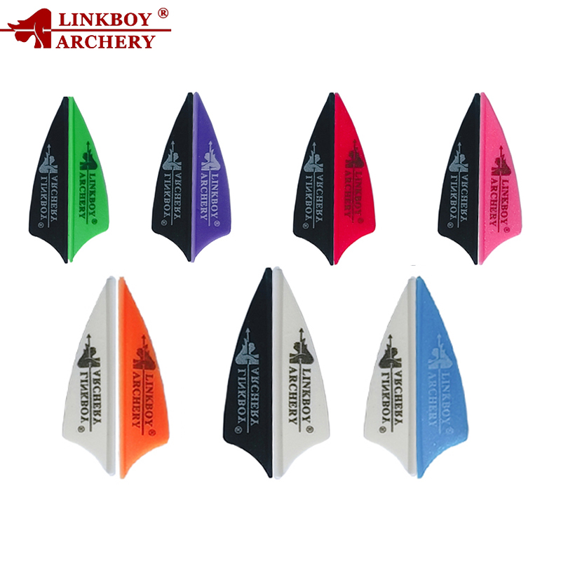 Archery Arrow Vane 1.75 Inch Plastic Arrow Fletching Feather Recurve Compound Bow Accessories Hunting And Shooting Outdoor 36pcs