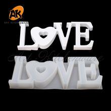 Прозрачная силиконовая форма для высушенных тортов «любовь»