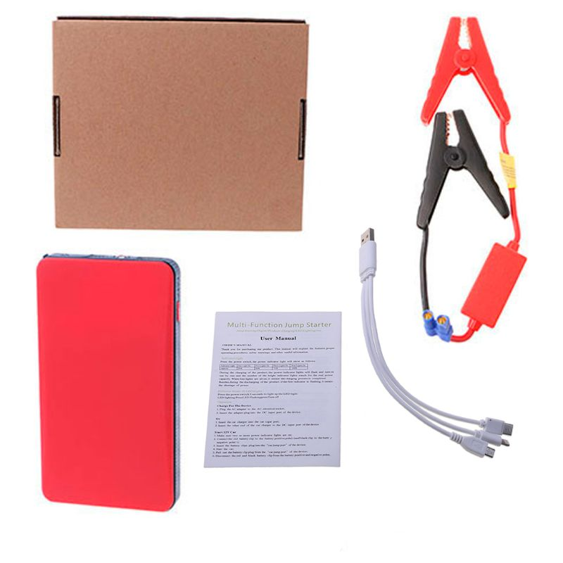 12V 20000mAh Multi-Function Car Jump Starter Power Bank Emergency Charger Booster Battery U1JF