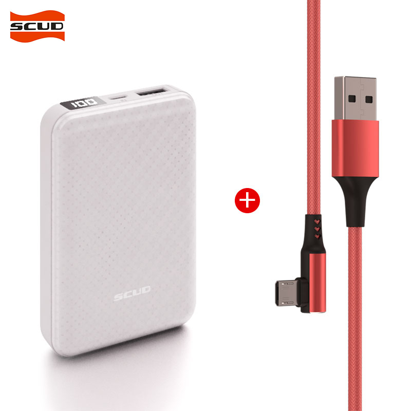 SCUD <font><b>10000</b></font> mAh one USB External Battery Charger Portable LCD Power bank+1M Micro USB data cable for Xiaomi Mi Huawei oppo vivo image