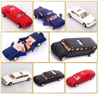 1pcs 7cm 4D Plastic Assembled Car Scale 1:87 Modern Cars Collection Puzzle Assembling Toys For Children image