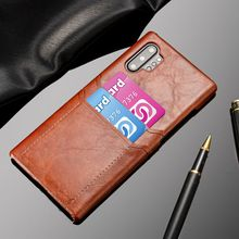 Dual Card Slot PU Leather Case For Samsung Galaxy Note 10 Plus 9 8 S8 S9 S10 S10e Retro Business Hard Cover