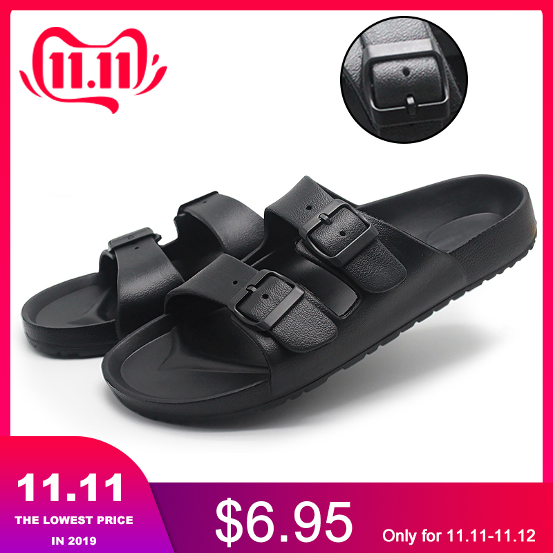 FZNYL Outdoor Men's Casual Slippers Leisure Soft Slides 2019 Non-slip Waterproof Shoes Male Beach Sandals Size 40-46