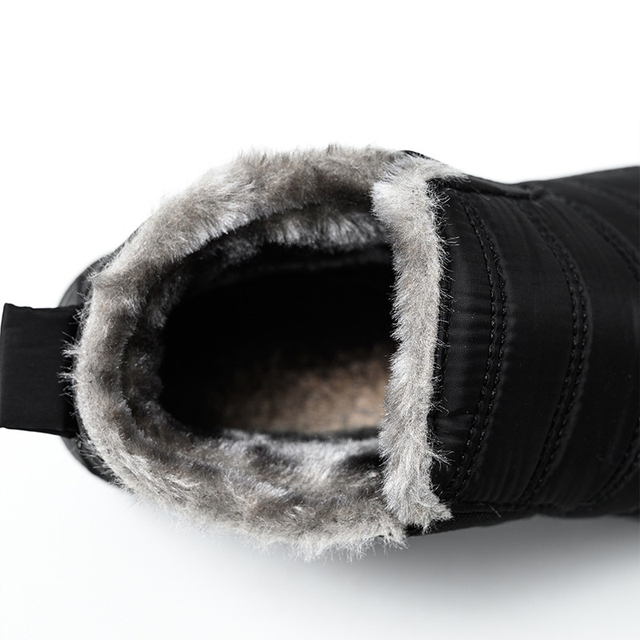 Snow Boots Warm Plush Fur Ankle Winter Female Slip Waterproof Ultralight Footwear 4