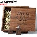 JASTER USB 3.0 (logo personnalisé gratuit) guitare en bois + boîte usb flash disque clé USB 4gb 8gb 16gb 32gb photographie cadeau personnalisé