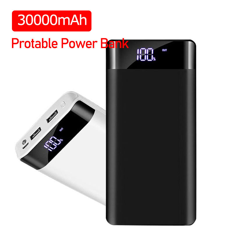 30000mAh Powerbank Portable Charging Poverbank Mobile Phone External Battery Charger Power Bank For Iphone Xiaomi Samsung