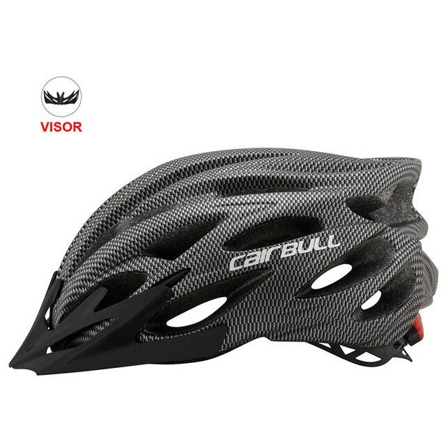 Mais novo bicicleta de estrada mountain bike capacete com tt lens & viseira das mulheres dos homens ciclismo capacete com luz traseira esportes mtb capacete da bicicleta 6