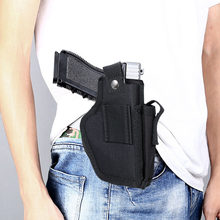 Táctico funda de pistola derecha y mano izquierda Universal pistola oculta llevar fundas cinturón Clip de Metal IWB funda OWB arma del Airsoft bolsa