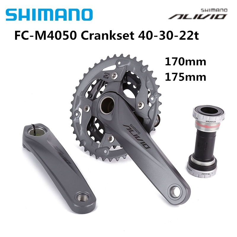 Shimano Alivio M4050 Crank Mountain Bike Bicycle FC-M4050 With BB HollowTech Bicycle Parts MTB Bike Original Crankset