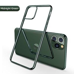 Für iPhone 11 Fall Laser Überzug Luxus TPU Soft Clear Abdeckung Für iPhone 11 Pro Max Plus 2019 Helle Kristall telefon Fall