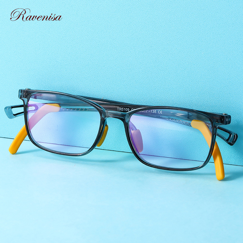 RAVENISA  Fashion Candy Glasses For Kids Anti Blue Blocking Frame TR90 Computer Boys Girl Transparent Children Eyeglasses